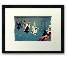 You got a little faded with time Framed Print