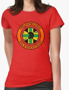 """Trojan Records 5 """" Jamaican """" Womens Fitted T-Shirt"""
