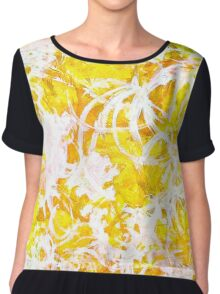 Golden Shine abstract Chiffon Top
