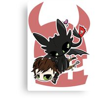 Toothless and Hiccup Canvas Print