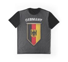 Germany Pennant with leather style background Graphic T-Shirt