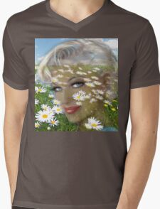 Daisies Hill Smile Mens V-Neck T-Shirt