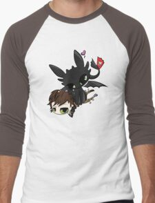 Toothless and Hiccup Men's Baseball ¾ T-Shirt
