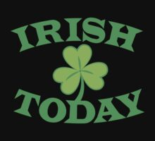 IRISH today with simple green shamrock Kids Clothes