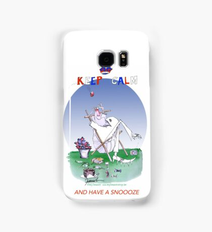 Keep Calm and have a snoooze - tony fernandes Samsung Galaxy Case/Skin