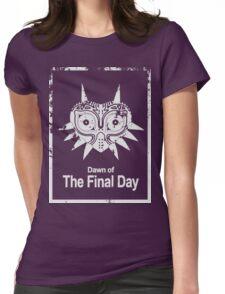 Majora The Final Day Dark White Version (Worn look) Womens Fitted T-Shirt