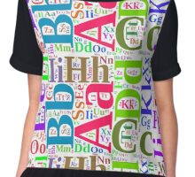 Colorful alphabet Chiffon Top