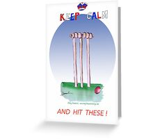 Keep Calm and hit these - tony fernandes Greeting Card