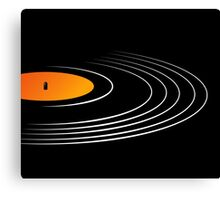 Music Retro Vinyl Record  Canvas Print