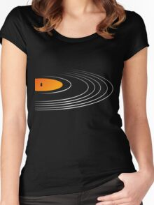 Music Retro Vinyl Record  Women's Fitted Scoop T-Shirt