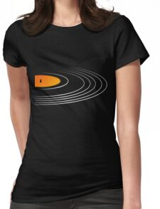Music Retro Vinyl Record  Womens Fitted T-Shirt