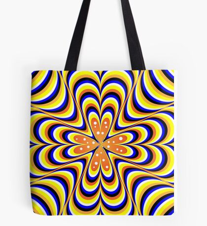 psychedelic wave Tote Bag