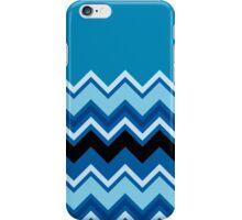 Chevron Summer Cobalt Sapphire Blue Black Zigzag Pattern iPhone Case/Skin