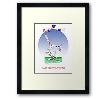 Keep Calm and keep your head - tony fernandes Framed Print