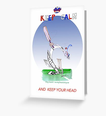 Keep Calm and keep your head - tony fernandes Greeting Card