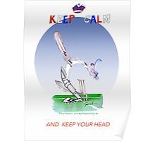 Keep Calm and keep your head - tony fernandes Poster