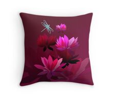 Water lilies too Throw Pillow
