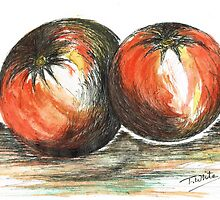 Juicy Ripened Tomatoes by Teresa White