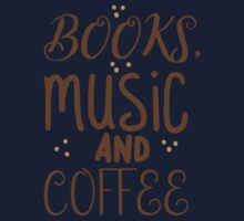 books, music and coffee One Piece - Long Sleeve
