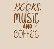 books, music and coffee Womens Fitted T-Shirt
