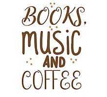 books, music and coffee Photographic Print