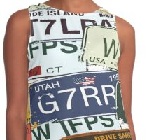 Old American Car Licence Plates  Contrast Tank