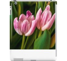 2 PINK TULIPS iPad Case/Skin