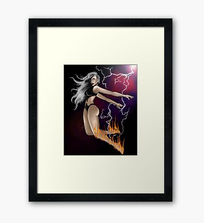 Firestorm Superhero! Framed Print