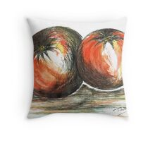 Juicy Ripened Tomatoes Throw Pillow