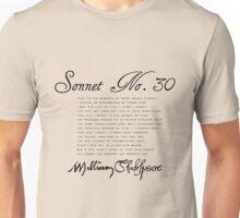 Shakespeare Sonnet No. 30 Unisex T-Shirt