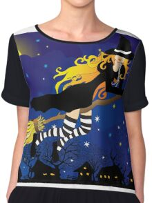 Flying Witch Chiffon Top