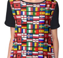 2016 Football country flags pattern Chiffon Top