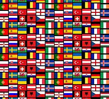 2016 Football country flags pattern by igorsin