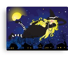 Blond Witch Canvas Print