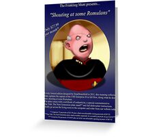 Shouty Picard comedy commemorative plate. (It's not a real plate.) Greeting Card