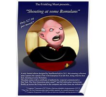 Shouty Picard comedy commemorative plate. (It's not a real plate.) Poster