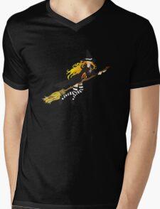 Flying Witch Mens V-Neck T-Shirt