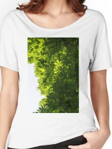 More Than Fifty Shades Of Green - Sunlit Chestnut Leaves Patterns - Vertical Right Two Women's Relaxed Fit T-Shirt