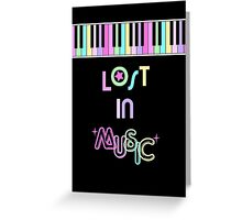 Lost in Music Greeting Card