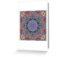 Colorful Mandala Abstract Greeting Card