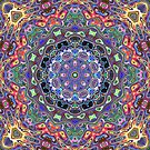 Colorful Mandala Abstract by Phil Perkins