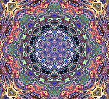 Colorful Mandala Abstract by Phil Perkins