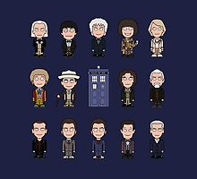 The Fourteen Doctors (pillow or bag) by redscharlach