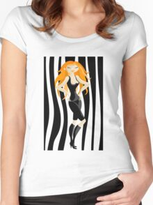 red-haired Women's Fitted Scoop T-Shirt