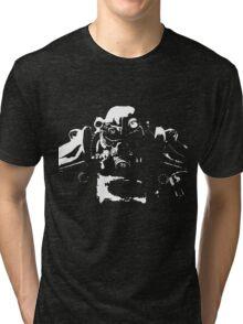 Fallout 4 Power Armour Cutout Tri-blend T-Shirt