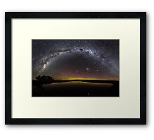 Milky Way & Aurora Australis at Waituna Lagoon Framed Print