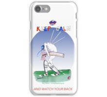 Keep Calm and watch your back - tony fernandes iPhone Case/Skin