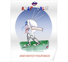 Keep Calm and watch your back - tony fernandes Poster