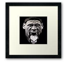 KING LEBRON JAMES NBA Framed Print