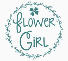Flower girl (in a pretty bloom wreath) Kids Tee